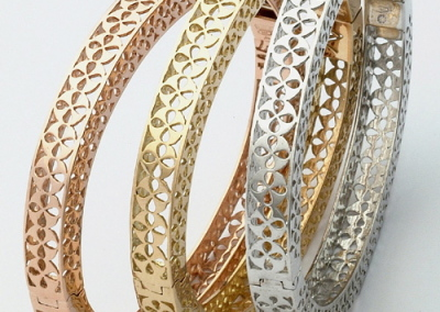 Traforati Bracelets in 18k rose, yellow and white gold
